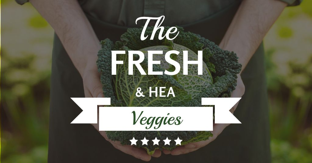 Fresh veggies with farmer — Crear un diseño