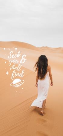 desert girl Snapchat Moment Filter – шаблон для дизайну