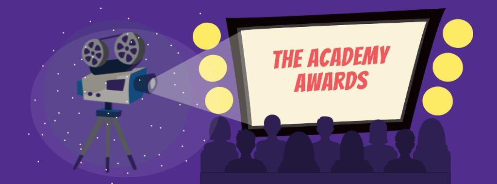 Plantilla de diseño de Annual Academy Awards announcement Facebook cover