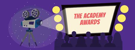 Modèle de visuel Annual Academy Awards announcement - Facebook cover