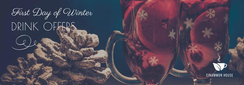First day of winter Drinks offer — Создать дизайн