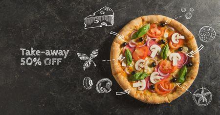 Template di design Italian Pizza Take-away promotion Facebook AD
