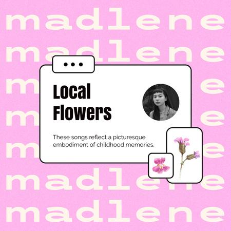 Flowers Store Customer's Review Album Coverデザインテンプレート