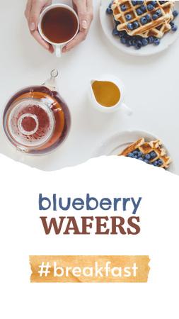 Blueberry Wafers for Breakfast Instagram Story – шаблон для дизайну