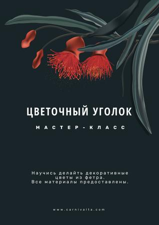 Masterclass of Flower Wreath making Annoucement Poster – шаблон для дизайна