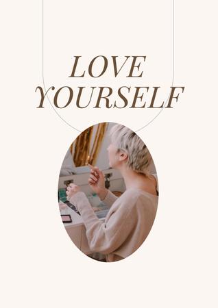 Plantilla de diseño de Girl Power Inspiration with Young Woman Poster