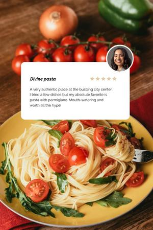 Modèle de visuel Pasta dish with Cheese and herbs - Pinterest