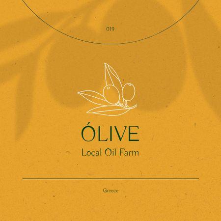 Modèle de visuel Local Oil Farm Ad with Olive Branch Illustration - Logo