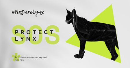 Modèle de visuel Fauna Protection with Wild Lynx - Facebook AD