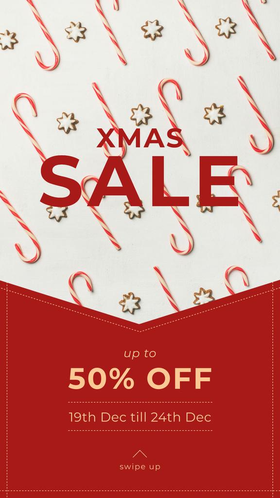 Christmas Sale Ad with Sweets — Створити дизайн