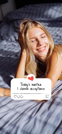 smiling girl Snapchat Geofilter – шаблон для дизайна