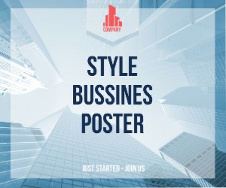Style business poster Medium Rectangleデザインテンプレート