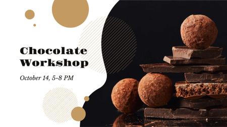 Dark sweet Chocolate workshop FB event cover – шаблон для дизайна