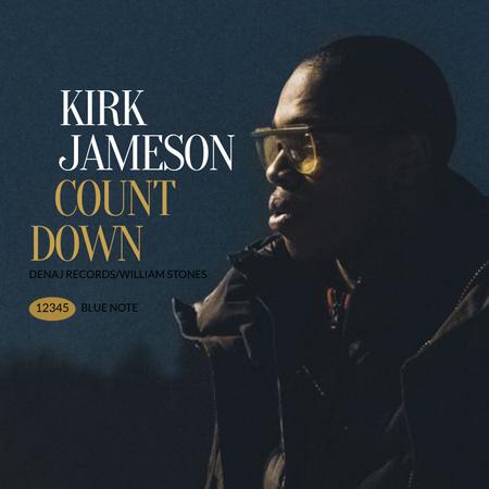 Man wearing Sunglasses at Night Album Coverデザインテンプレート