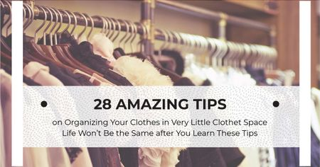 Tips for organizing clothes Facebook AD Modelo de Design