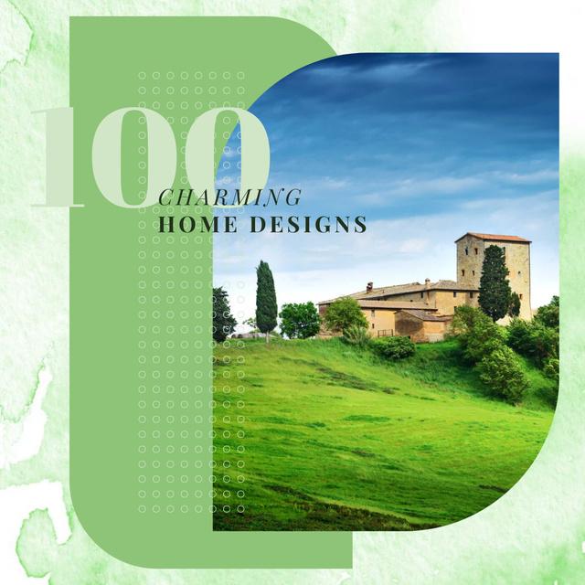 Modèle de visuel House in green country landscape - Instagram
