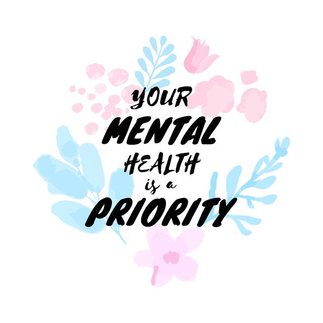 Modèle de visuel Mental Health care quote - Instagram