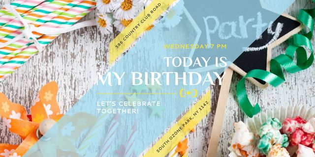 Birthday party in South Ozone park Image Design Template