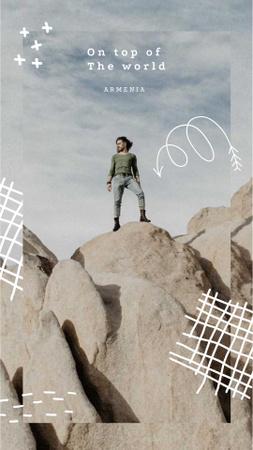 Design template by Crello Instagram Video Story – шаблон для дизайну