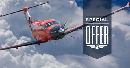 Designvorlage Plane flying in blue sky für Facebook AD