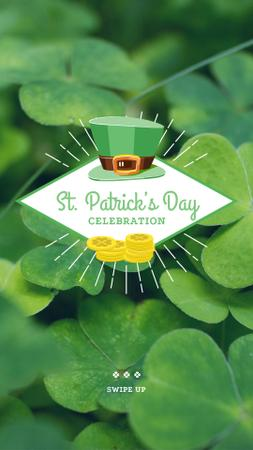 Ontwerpsjabloon van Instagram Story van St.Patrick's Day Celebration Announcement with Leprechaun Hat