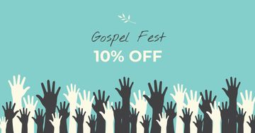 Gospel Fest Discount Offer with Hands