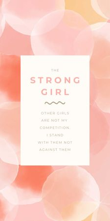 Girl Power Inspiration with Pink Bubbles Graphic Modelo de Design