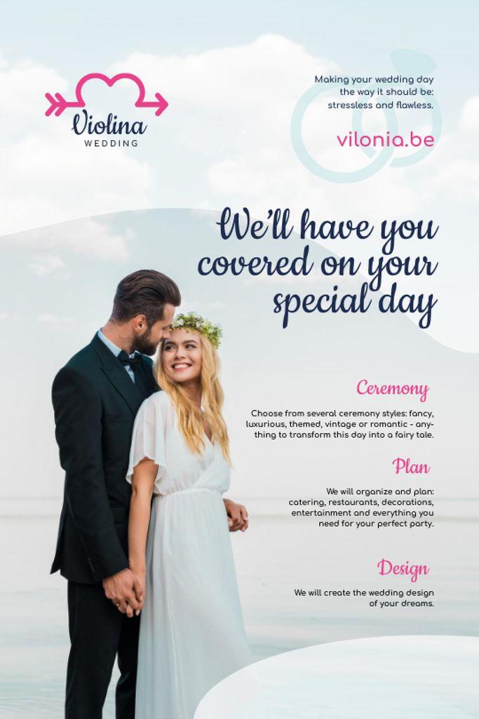 Szablon projektu Wedding Planning Services with Happy Newlyweds Tumblr
