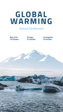 Global Warming Conference with Melting Ice in Sea Instagram Story Design Template
