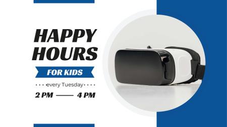 Plantilla de diseño de Modern Virtual Reality Glasses FB event cover