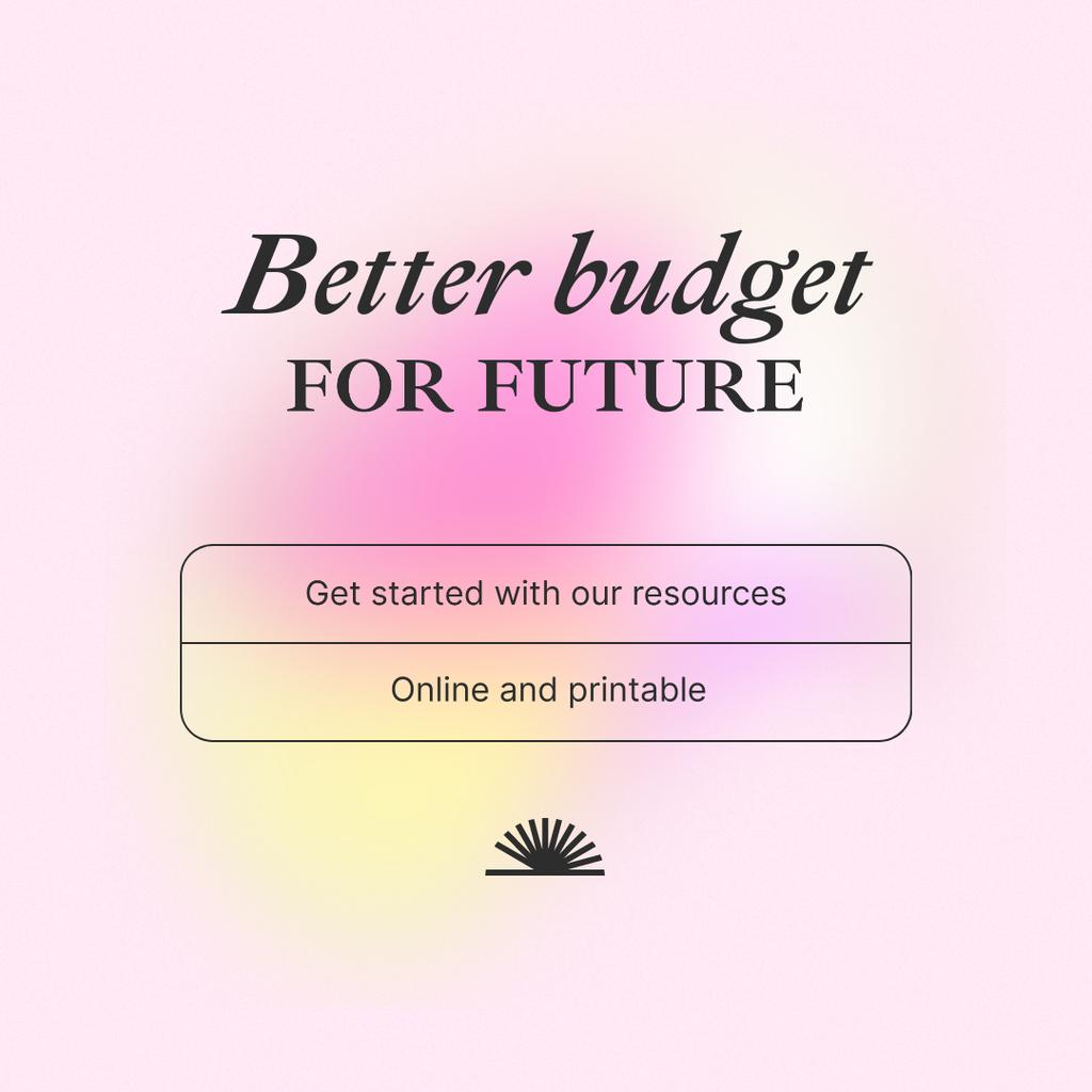 Budget Planning Recourses offer Instagram Design Template