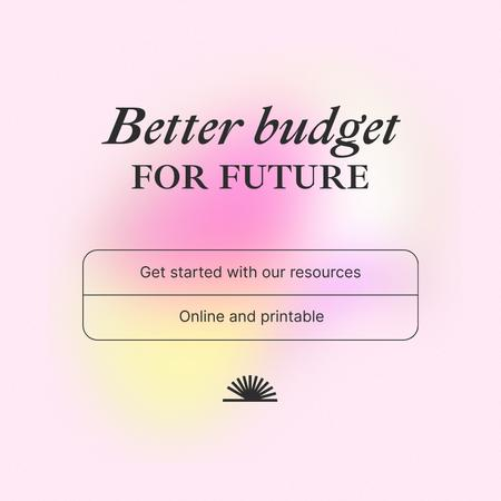 Plantilla de diseño de Budget Planning Recourses offer Instagram