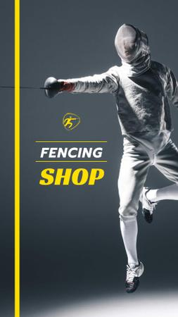 Fencing Shop Offer with Fencer Instagram Story Modelo de Design