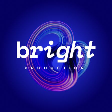 Template di design Event Agency Ad with Bright Abstraction Logo