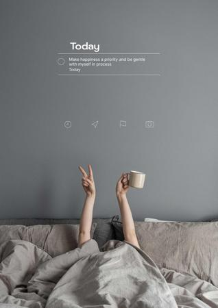 Modèle de visuel Mental Health Inspiration with Woman in Bed - Poster