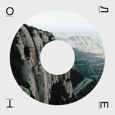 Scenic Mountains view Album Cover – шаблон для дизайна