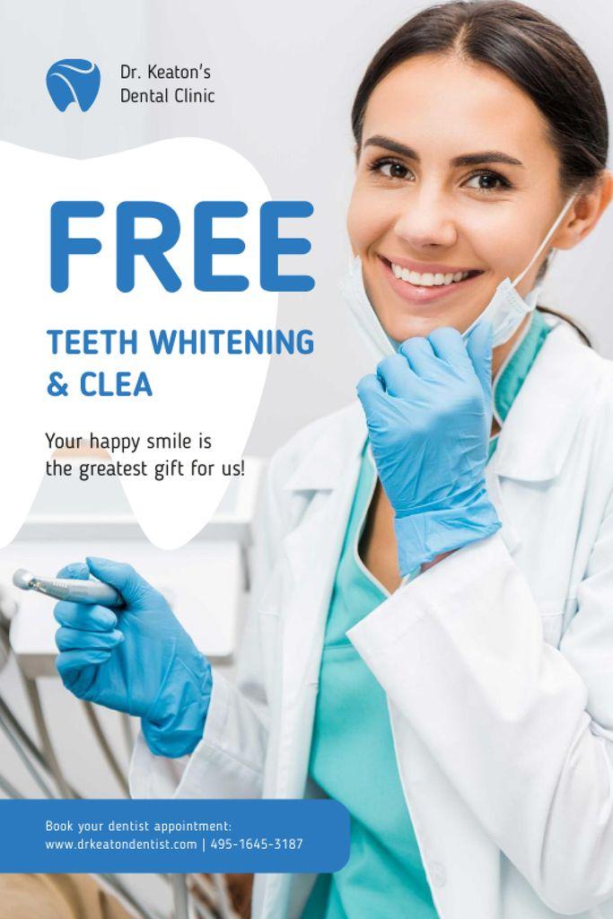 Szablon projektu Dentistry Promotion with Smiling Woman Dentist Tumblr