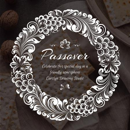 Happy Passover with Unleavened Bread and Nuts Animated Post Modelo de Design