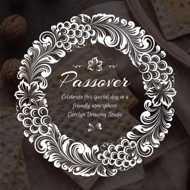 Happy Passover with Unleavened Bread and Nuts Animated Post – шаблон для дизайна
