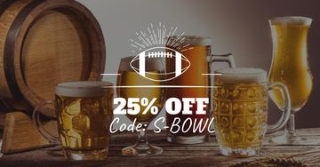 Super Bowl Ad with Beer Discount Offer