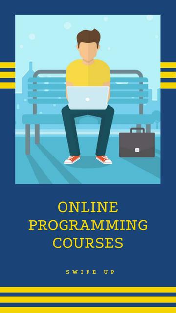 Modèle de visuel Online Programming Courses Ad with Programmer in Park - Instagram Story