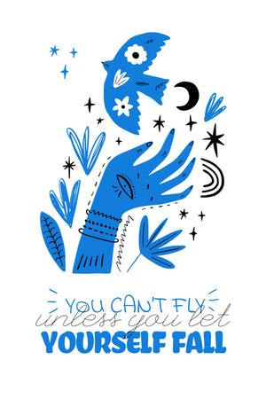 Mental Health Inspiration with abstract illustration Pinterest Modelo de Design