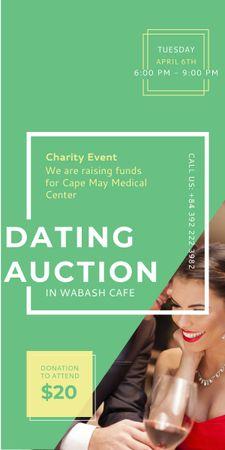 Smiling Woman at Dating Auction Graphic – шаблон для дизайну
