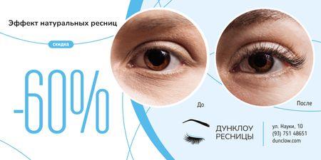 Eyelash Extensions Offer in Blue Twitter – шаблон для дизайна