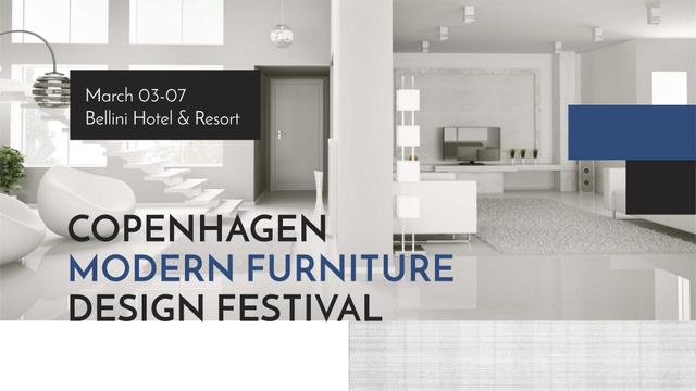 Plantilla de diseño de Stylish modern interior in white FB event cover