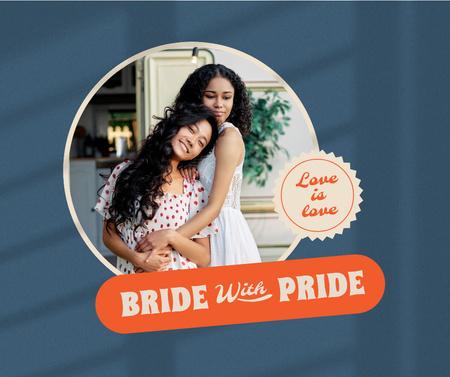 Cute LGBT Couple celebrating Wedding Facebook – шаблон для дизайна