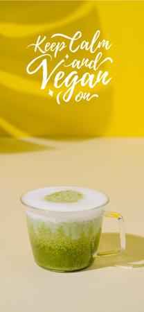 Platilla de diseño Vegan Lifestyle concept with Green Smoothie Snapchat Moment Filter