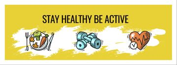 Healthy lifestyle Concept on Yellow