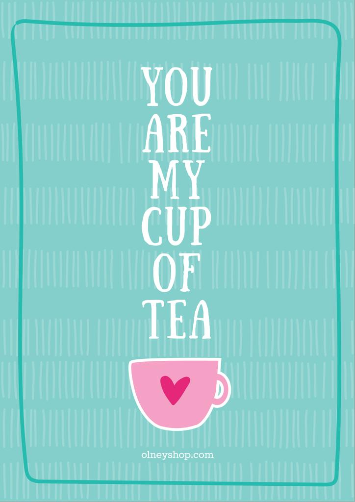 Love Quote Cup of Tea in Blue — Crea un design