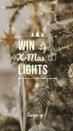 Christmas Lights Special Offer with Festive Tree Instagram Story Design Template